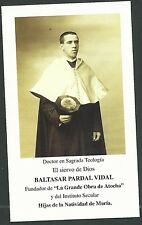 Estampa antigua El Siervo Pardal Vidal andachtsbild santino holy card santini