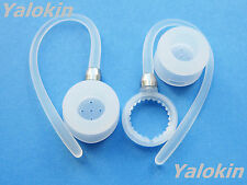 2 White Earhooks and Earbuds for Motorola Boom 89605N Headsets