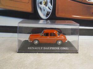 ALTAYA / IXO - 1961 RENAULT DAUPHINE - RED PAINT - 1/43 SCALE MODEL CAR
