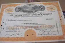 The Pennsylvania Railroad Co. OLD CANCELED STOCK  CERTIFICATE orange  1965