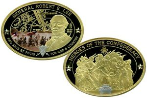ROBERT E. LEE OVAL COMMEMORATIVE COIN PROOF VALUE $139.95