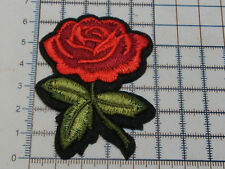 Red Rose Flower (Iron On) Embroidery Applique Patch Sew Iron Badge-(A-1)