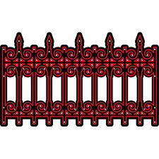 Iron Fence Border Die Darice for Cardmaking,Scrapbooking, etc