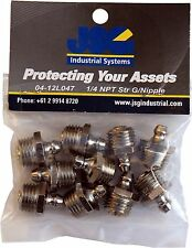 Grease Nipples 1/4 NPT Straight Pack Of 10