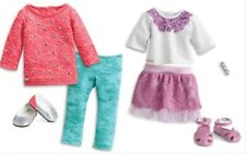 American Girl doll outfit LOT Cool Coral Outfit plus Sparkle Sequin Outfit