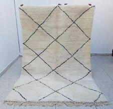 100% Authentic High Quality Handmade Beni Ourain Moroccan Rug 9'8 x 6'3