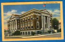 City Hall, Hattiesburg, Mississippi - Linen Postcard