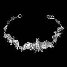 Fledermaus Armkette Silber Länge 17,79 cm Gothic Schmuck - NEU