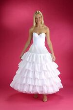 6-HOOP White Petticoat Wedding Gown Crinoline Petticoat Skirt Slip  5 Ruffle 3