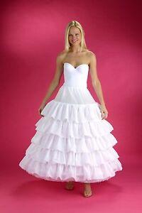 6-HOOP White Petticoat Wedding Gown Crinoline Petticoat Skirt Slip  5 Ruffle XL