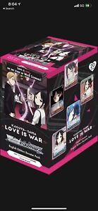 Weiss Schwarz Kaguya Sama Love is War Factory Sealed Booster Box English WS