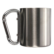 Stainless Steel Cup Coffee Cup Camping Outdoor Picnic Carabiner 220ML LW