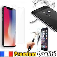 Vitre iPhone X/8/7/SE/6/5/S/C/4 Plus protection verre trempé protège écran Apple