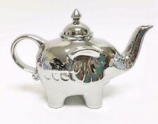 NEW SILVER REFLECTIVE ELEPHANT SHAPE+LEGS CERAMIC TEAPOT,TEA,COFFEE POT 3.5 CUPS