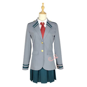 My Boku no Hero Academia Izuku Shoto Asui Ochako School Uniform Cosplay Costume