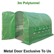 3m X 2m Polytunnel Pollytunnel Polly Tunnel Greenhouse Green House Metal Door