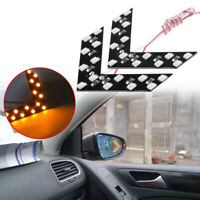 Yellow Car Auto Side Rear View Mirror 14SMD LED Lamp Turn Signal Light Accessory