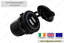 Waterproof 12v USB Cigarette Lighter Plug Socket Charger Outlet Car Motorbike
