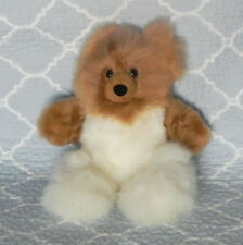 New 100% Baby Alpaca 12� Teddy Bear Soft Fluffy Cuddly White and Brown Splendid