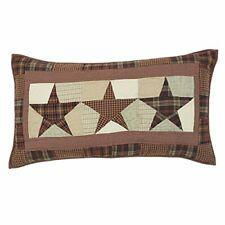 Primitive Country Pillow Sham, Abilene Star, King Pillow Sham Measures 21x37