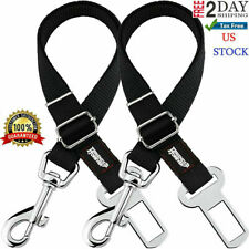 Large Dog Car Seat Belt Buckle For Big Dogs Best Pet Adjustable Leash Safety 2Pc