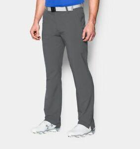 Under Armour Men's UA Golf Loose Pants Straight Gray Grey NWT #1248089 044