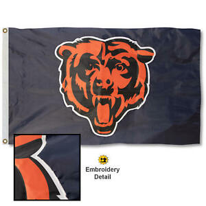 Chicago Bears Applique and Embroidery Nylon Flag