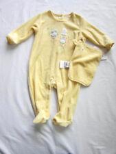 NWT Girls Boy Absorba 3-6M Bunny Rabbit Romper Mini Blanket Yellow Velour Easter