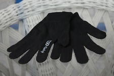 Kalenji Kid's Boy's Black Ribbed Gloves Size 12 – 14 Years