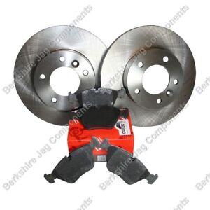 FOR JAGUAR - XJ6 XJ40 FRONT BRAKE DISCS AND PADS SET JLM1826 + JLM1829
