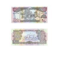 SOMALILAND 100 SHILLINGS UNC 1996 BANKNOTE, PICK #5, FREE SHIPPING