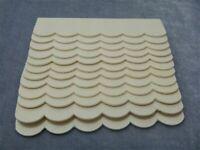 12PCS 1/12 Dollhouse Miniature Unpainted Wood Roof Tiles Shingles Kids Toy DIY