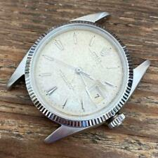 ROLEX DATEJUST 6605 WHITE GOLD AND STAINLESS STEEL VINTAGE GENUINE WATCH