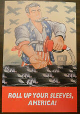"""Art Spiegelman """"Roll Up Your Sleeves, America!"""" Postcard T894CW Excellent Cond"""