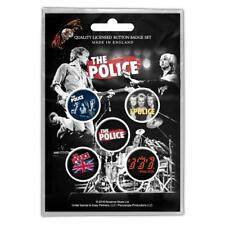 More details for official licensed - the police - various 5 badge pack rock sting