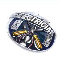 Vintage Men Electrician Tool Cowboy Alloy Belt Buckle Fit 1.5inch Wide Belt HF J