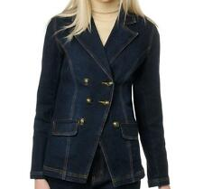 DG2 Stretch Denim Button Front Blazer Jacket $79.90 INDIGO BLUE XS Runs Large!