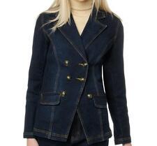 DG2 Stretch Denim Button Front Blazer Jacket $79.90 INDIGO BLUE XS Runs Large!