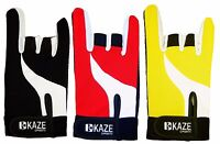 KAZE SPORTS Premium Power Grip Bowling Glove, Right Handed, Large