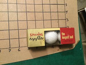 original UNUSED -- spalding TOP FLITE red & gold box -LONGEST - 3 GOLF BALLS old