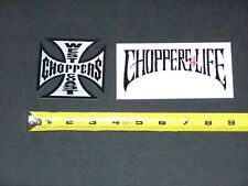 JESSE JAMES WEST COAST CHOPPERS 4 LIFE Motorcycles Decal Stickers Lot Set of 2