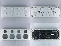 GPO Four Socket Outlet Double Pole 4 Gang Quad Power Point 10A 10 Amp 250 Volt