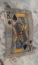 ♤♤ Silver Mirrored Finish Belt Buckle~ King of Spades ~Great Detail & Color♤♤