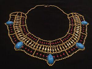 "Egyptian Queen Cleopatra Style Pharaoh's Necklace/Collar - 100% Handmade. 6""-11"""