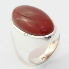 Red Onyx Gemstone 925 Sterling Silver Ring Handmade Jewelry - ANY SIZE