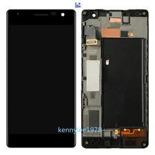 Ecran LCD+Vitre Tactile Sur Chassis Cadre Complete Pour Nokia Lumia 730 735 Noir