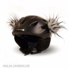 Helmohren /Plüschohren/ Ohren Deko für Helm/ Skihelm/ Snowboardhelm Weiß Schwarz