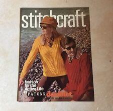 STITCHCRAFT VINTAGE KNITTING  MAGAZINES OOCTOBER 1968