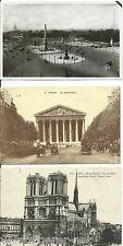 Kleine Sammlung von 40  historischen Ansichtskarten aus Paris Carte Postale