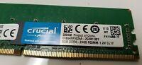 Lot of 2 Crucial 8GB 1RX8 PC4-2400T DDR4-2400 RDIMM CT8G4RFS824A Server Memory